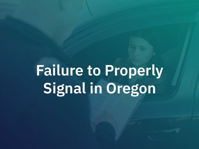 Failure to properly signal